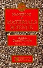 CRC Handbook of Materials Science: General…