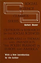 Critiques of research in the social sciences…