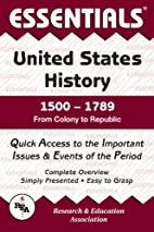 Essentials of United States History,…