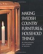 Making Swedish Furniture by Hans Keisjser
