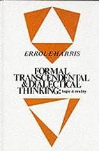 Formal, Transcendental and Dialectical…