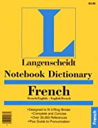 Notebook French Dictionary by Langenscheidt…