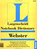 Langenscheidt: Notebook Webster's Dictionary