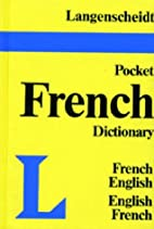 Langenscheidt's Pocket French Dictionary by…