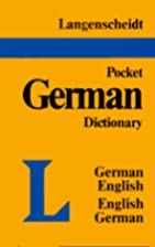 Langenscheidt's Pocket German Dictionary…