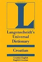 Langenscheidt's Universal Croatian…