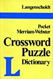 Langenscheidt: Langenscheidt's Pocket Crossword Puzzle Dictionary