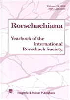 Rorschachiana vol 24 2000: Yearbook of the…