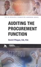 Auditing the Procurement Function (The Iia…