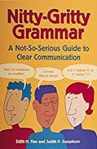 Nitty-Gritty Grammar: A Not-So-Serious Guide…