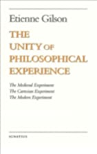 The Unity of Philosophical Experience by…