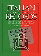 Italian genealogical records : how to use…