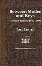 Between modes and keys : German theory,…