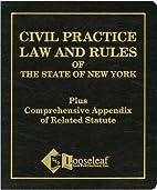 Civil Practice Law & Rules Plus Appendix:…