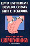 Sutherland, Edwin H.: Principles of Criminology