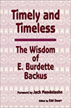 Timely and Timeless: The Wisdom of E.…