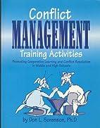 Conflict Management Training Activities:…