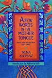 Irena Klepfisz: A Few Words in the Mother Tongue: Poems Selected and New (1971-1990)