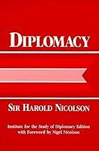 Diplomacy by Sir Harold George Nicolson
