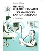 Helping researchers write-- so managers can…