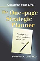 Optimize Your Life! The One-page Strategic…
