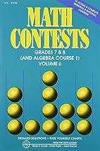 Math Contests, Grades 7 & 8 (and Algebra…