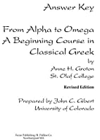 From Alpha to Omega: Answer Key by Anne H.…