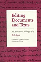 Editing Documents and Texts: An Annotated…