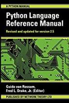 The Python Language Reference Manual by…