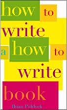 How to write a how to write book by Brian…