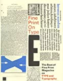 Gentry, Linnea: Fine Print on Type: The Best of Fine Print Magazine on Type and Typography