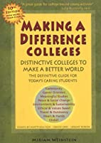 Making a Difference Colleges: Distinctive…