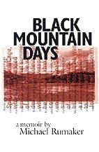 Black Mountain Days by Michael Rumaker