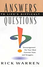Answers To Life's Difficult Questions by…