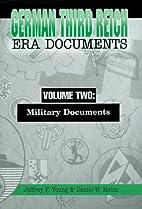 German Third Reich Era Documents, Volume…