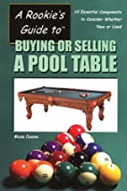 Buying or Selling a Pool Table by Mose Duane