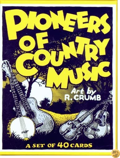 TPioneers of Country Music Boxed Trading Card Set by R. Crumb