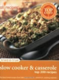 Allrecipes.Com: Tried & True Slow Cooker & Casserole: Top 200 Recipes