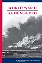World War II Remembered by Kendal at Hanover…