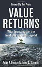 Value Returns: Wise Investing for the Next…