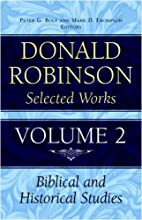 Donald Robinson. Selected Works: Preaching…