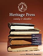 Heritage Press Catalog & Checklist: The…