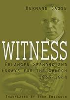 Witness by Hermann Sasse