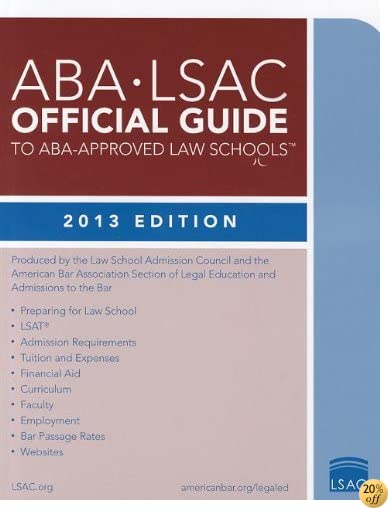 TABA-LSAC Official Guide to ABA-Approved Law Schools 2013