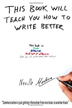 This book will teach you how to write…