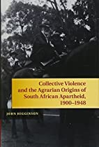 Collective violence and the agrarian origins…