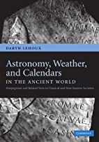 Astronomy, Weather, and Calendars in the…