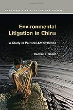 Environmental Litigation in China: A Study…
