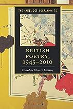 The Cambridge Companion to British Poetry,…