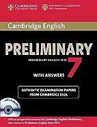 Cambridge English Preliminary 7 Student's…